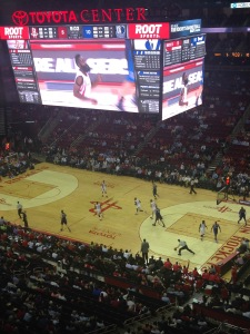 Cheering on the Dallas Mavericks from Houston